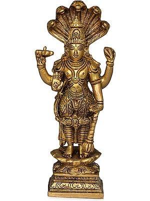 Lord Vishnu with Sheshanaga