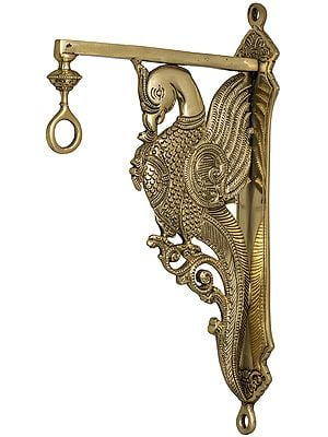 Wall Fixed Bell Hanging Peacock Bracket