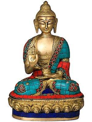 Tibetan Buddhist Deity Buddha in Ashirwad Mudra