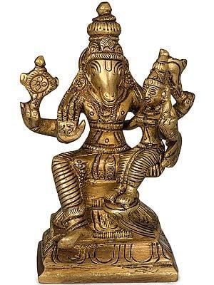 Small Bhagawan Hayagriva with Devi Lakshmi