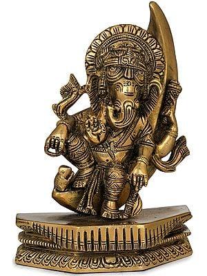 Ganesha Seated on a Crescent Moon