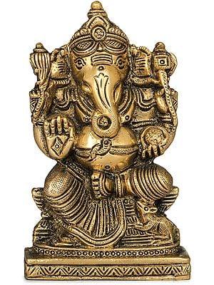 Small Ganesha Flat Statue