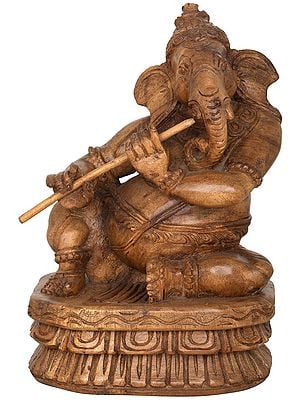 Musician Ganesha Playing Flute