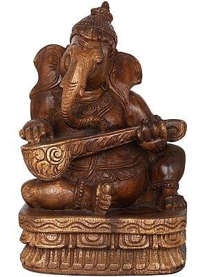 Musician Ganesha Playing Sitar