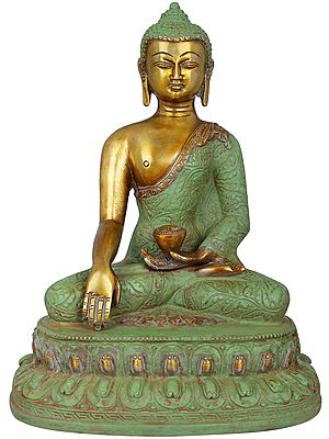 Shakyamuni Buddha Seated on Lotus - Tibetan Buddhist