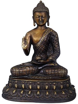 Preaching Buddha Seated on Double Lotus - Tibetan Buddhist