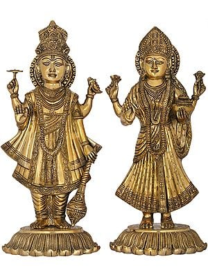 Bhagawan Vishnu with Goddess Lakshmi