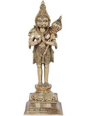 Fine Quality Standing Hanuman in Namaskaram Mudra