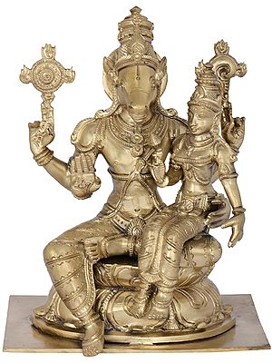 Lord Hayagriva with Goddess Lakshmi (Hoysala Art)