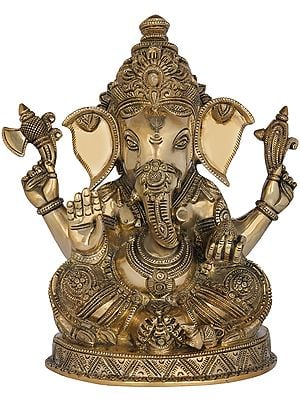 Fine Quality Seated Lord Ganesha