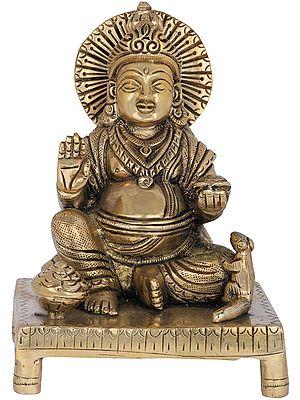 Kubera, The God of Wealth Seated on a Chowki