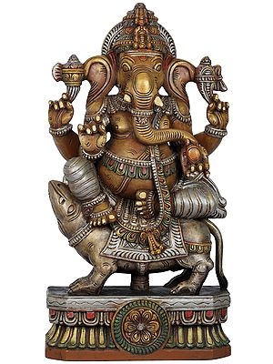 Sri Ganesha Seated on His Rat