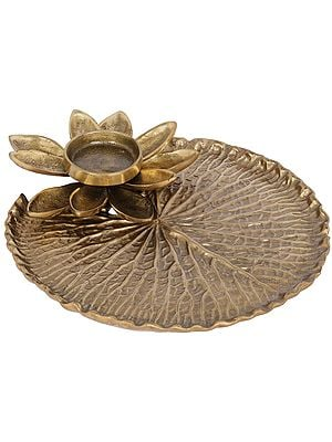 Lotus Flower Designer Candle Stand