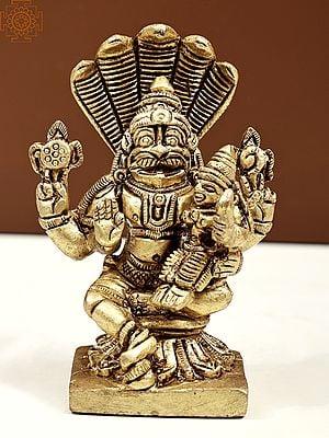 Small Size Narasimha and Lakshmi with Sheshanaga