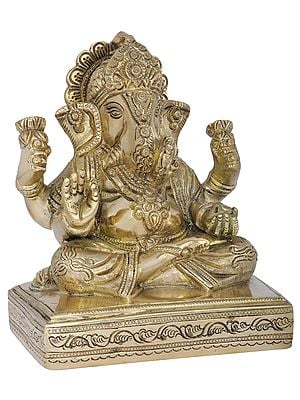 Bhagawan Ganesha Seated on Chowki