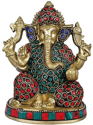 Small Inlaid Ganesha