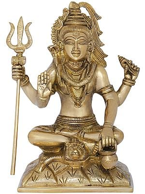 Four Armed Seated Shiva