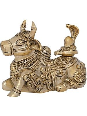 Nandi with Shiva Linga on His Back