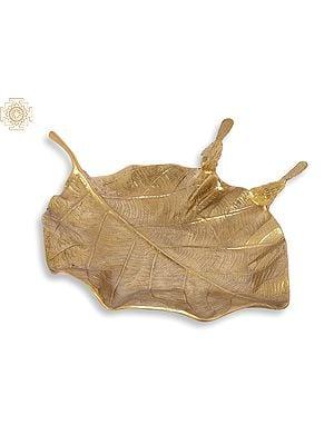 Designer Pipal Leaf Tray (Urli)