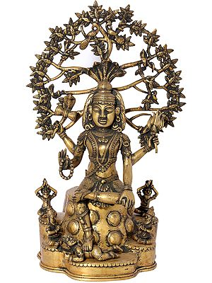 Dakshinamurti Shiva (Dhokra Art)