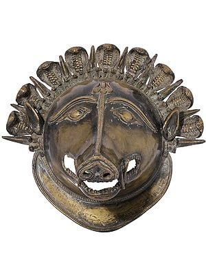 Varaha Wall Hanging Mask (Dhokra Art)