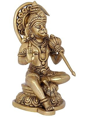 Ornamented Seated Hanuman Blessing His Devotees