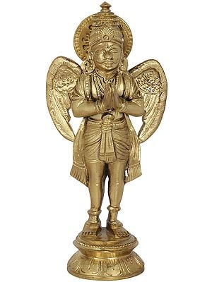 Standing Garuda in Namaste Mudra (Hoysala Art)