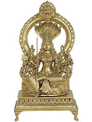 Goddess Mariamman (South Indian Durga)- Hoysala Art