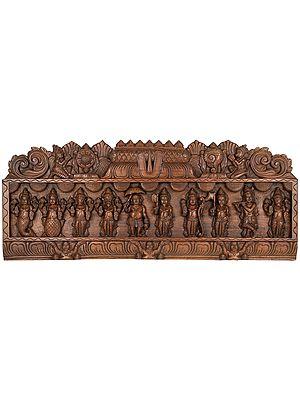 Dashavatara Panel - The Ten Incarnations of Lord Vishnu
