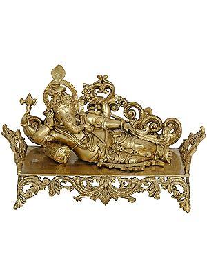 Relaxing Ganesha (Hoysala Art)