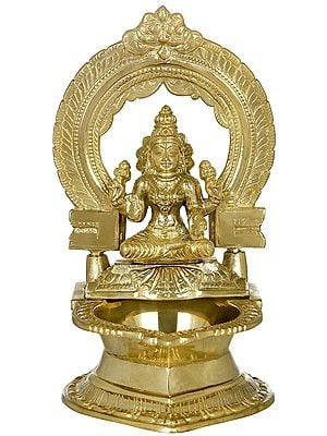 Large Oil Lamp of Goddess Lakshmi