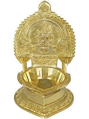 Goddess Rajarajeshwari (Tripura Sundari) Oil Lamp