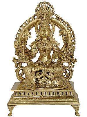 Goddess Santoshi Mata (Hoysala Art)