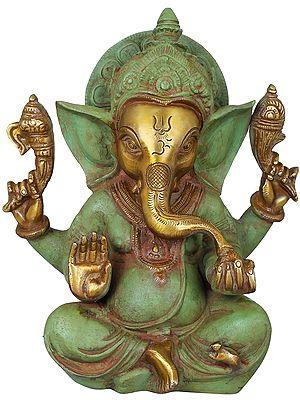 Lord Ganesha in Abhay Mudra