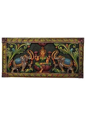 Gajalakshmi Seated on Lotus (Wall Hanging)
