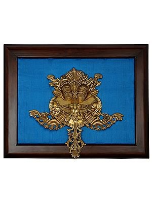 Kirtimukha Wall Hanging with Frame