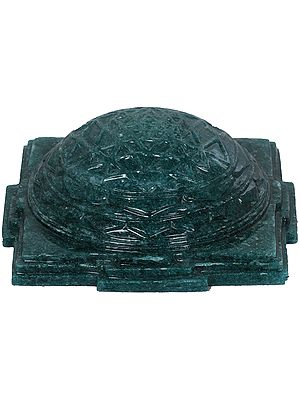 Carved Shri Yantra in Jade Aventurine