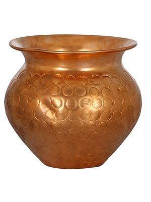 Designer Copper Puja Kalash (Small)