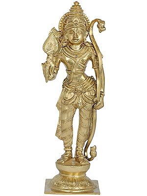 Standing Lord Rama Possessed Of The Bow And Arrows