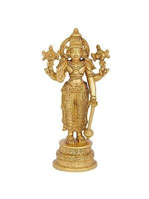 Lord Vishnu Holding a Gada