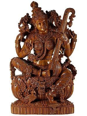 Embellished Maa Saraswati in a Superfine Quality