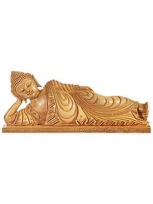 Parinirvana Buddha in a Superfine Pleated Robe