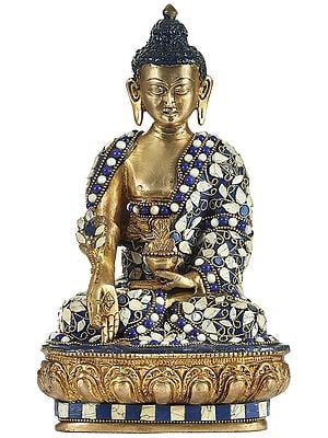 Medicine Lord Buddha Inlay Statue