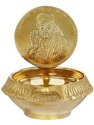 Sai Baba Small Puja Diya (Lamp)