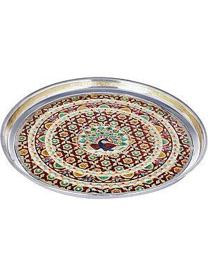 Large Meenakari Decorated Thali