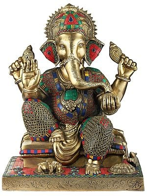 Colorful Inlayed Blessing Ganesha