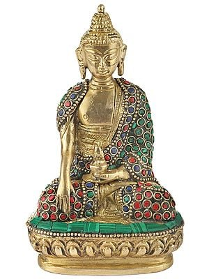 Inlayed Bhumisparsha Buddha (Small Statue)