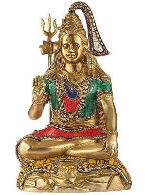 Lord Shiva in Abhay Mudra