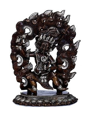 Tibetan Buddhist Wrathful Deity Vajrapani - Made in Nepal