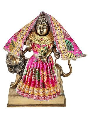 A Complete Set of 9 Vibrant Clothes and Jewels with Navaratri Durga